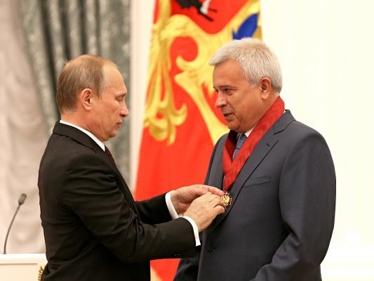 Vladimir Poutine et le Président de Lukoil Vaguit Alekperov