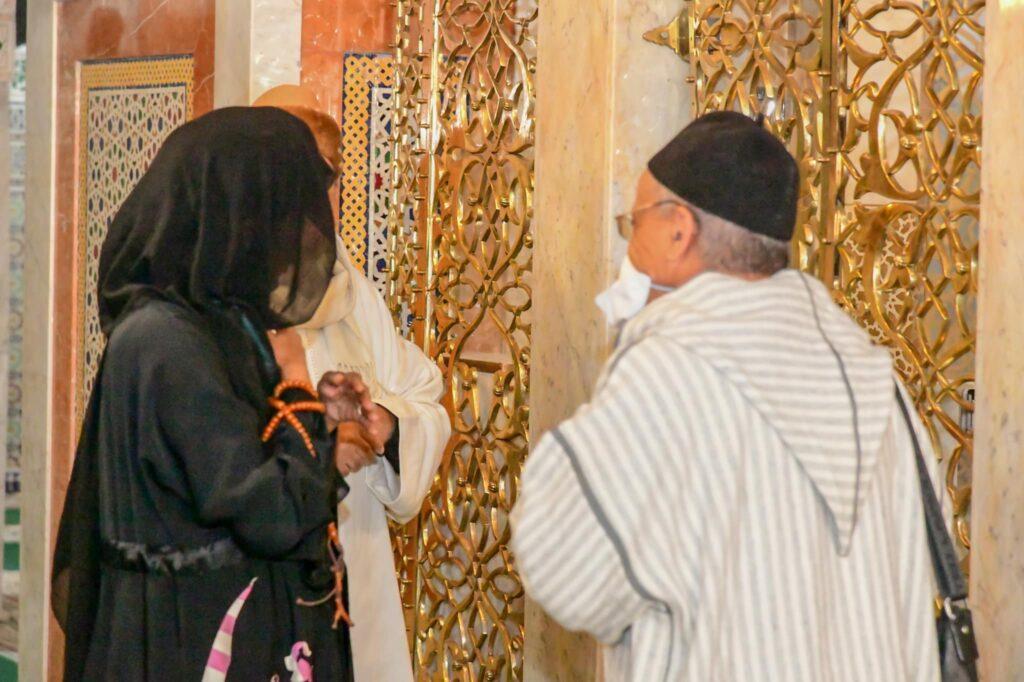 (Photos) Fez : Aissata Tall Sall devant le mausolée de Cheikh Ahmet Tidiane Cherif …