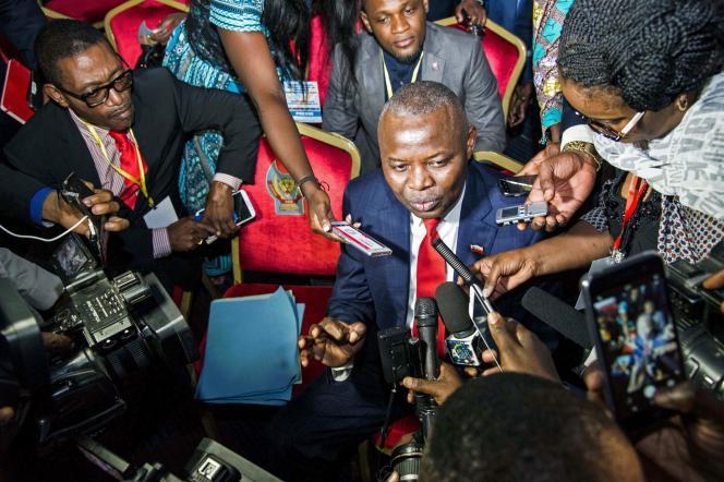 Vital Kamerhe, le 1erseptembre 2016, àKinshasa,en République démocratique du Congo.