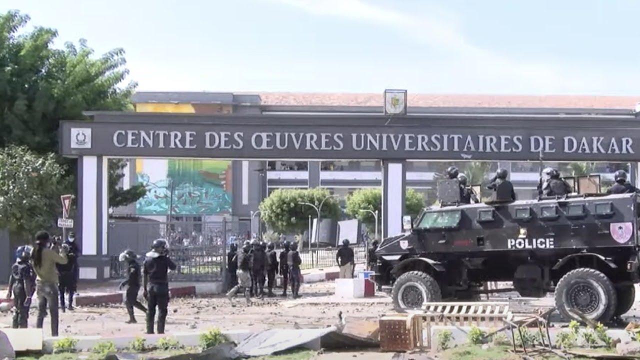 Manifestation à l'UCAD :  Affrontements entre forces de l'ordre et étudiants.